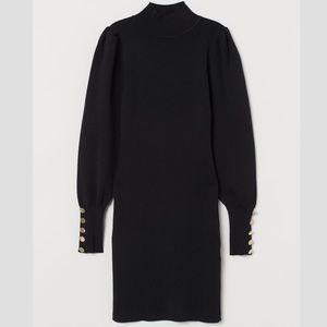 H&M Long Puff Sleeve Sweater Dress